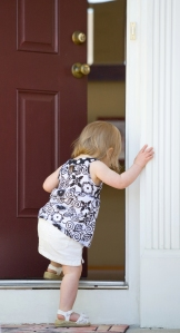 Little Girl Enter House